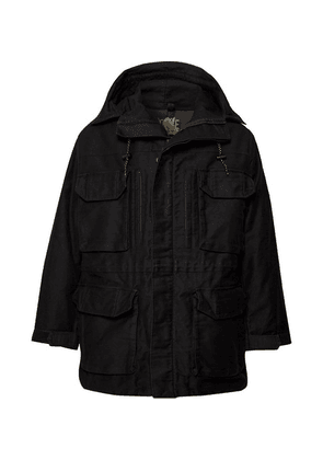 Cav Empt - Canvas Hooded Parka With Detachable Sherpa And Quilted Shell Liner - Black