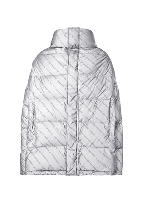 Balenciaga - Oversized Printed Quilted Shell Down Jacket - Gray