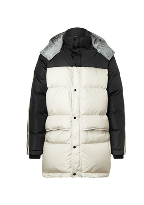 Gucci - Webbing-trimmed Quilted Shell Hooded Down Jacket - Black