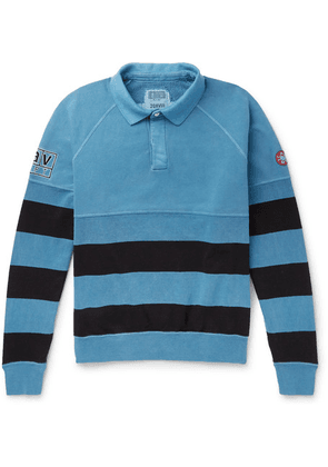 Cav Empt - Striped Loopback Cotton-jersey Polo Shirt - Blue