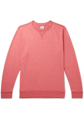 Faherty - Mélange Loopback Cotton-blend Jersey Sweatshirt - Red
