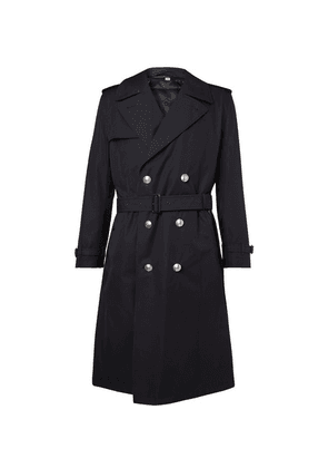 Burberry - Camborne Cotton-gabardine Trench Coat With Detachable Liner - Midnight blue