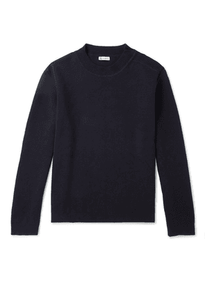 Connolly - Waffle-knit Cotton Sweater - Navy