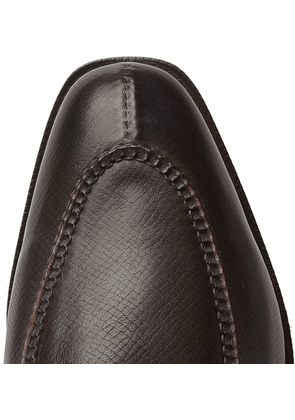 Edward Green - Dover Textured-leather Derby Shoes - Brown