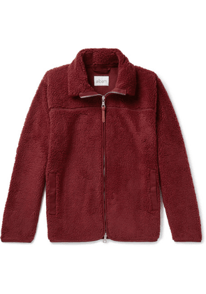 Albam - Fleece Zip-up Sweatshirt - Burgundy