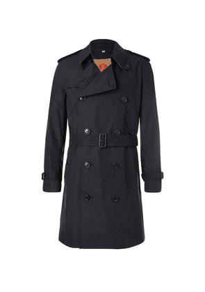 Burberry - Kensington Double-breasted Cotton-gabardine Trench Coat With Detachable Gilet - Navy
