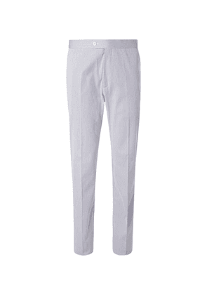 Connolly - Striped Stretch-cotton Trousers - Navy