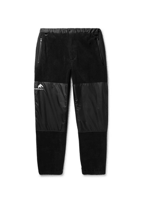 Flagstuff - Tapered Fleece And Shell Sweatpants - Black