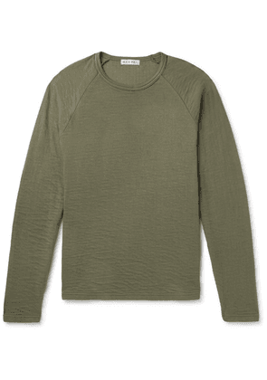 Alex Mill - Double-faced Cotton T-shirt - Army green
