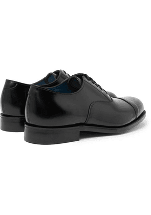 Grenson - Gresham Cap-toe Leather Oxford Shoes - Black