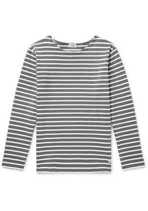 Armor Lux - Striped Cotton T-shirt - Gray