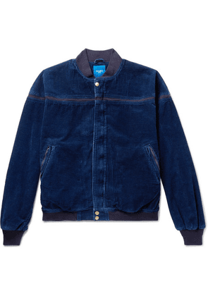 Beams - Cotton-corduroy Bomber Jacket - Blue