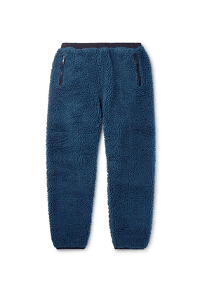 Beams - Wide-leg Fleece Sweatpants - Blue