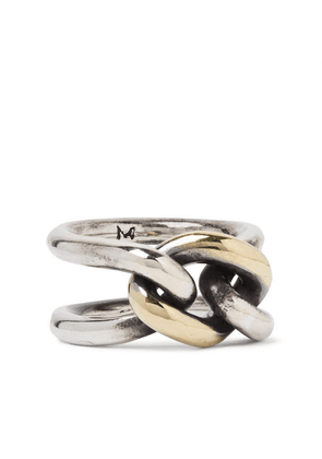 M.Cohen - Chain Link 18-karat Gold And Sterling Silver Ring - Silver