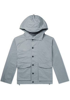 Albam - Cotton-twill Hooded Parka - Blue