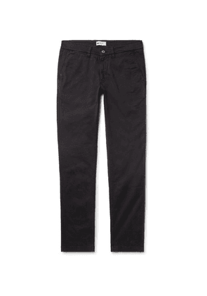 NN07 - Marco Slim-fit Stretch-cotton Twill Chinos - Black bc48525531cad