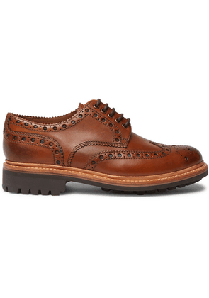 Grenson - Archie Leather Wingtip Brogues - Tan