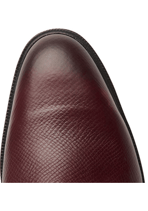 Edward Green - Caudale Textured-leather Derby Shoes - Burgundy
