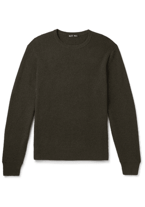 Alex Mill - Waffle-knit Merino Wool And Cashmere-blend Sweater - Army green