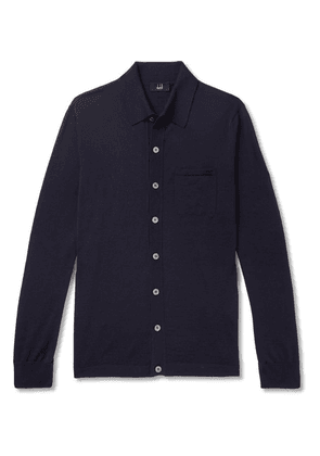 Dunhill - Slim-fit Wool Cardigan - Navy