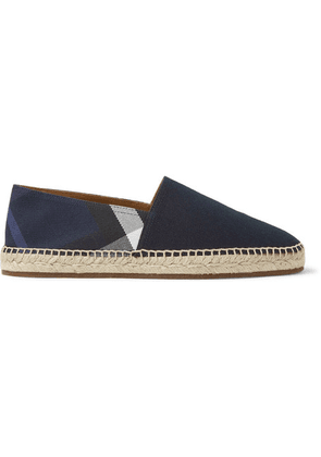 Burberry - Checked Canvas Espadrilles - Navy