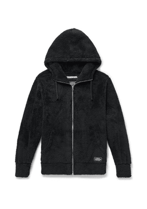 Neighborhood - Fleece Zip-up Hoodie - Black