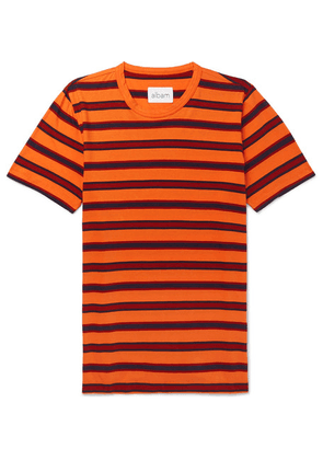 Albam - Striped Cotton-jersey T-shirt - Orange