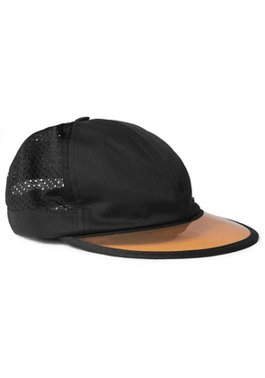 Gucci - Embroidered Cotton-twill And Mesh Baseball Cap - Black