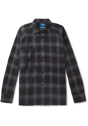 Beams - Checked Brushed-cotton Overshirt - Gray