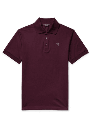 Alexander McQueen - Slim-fit Embroidered Cotton-piqué Polo Shirt - Merlot