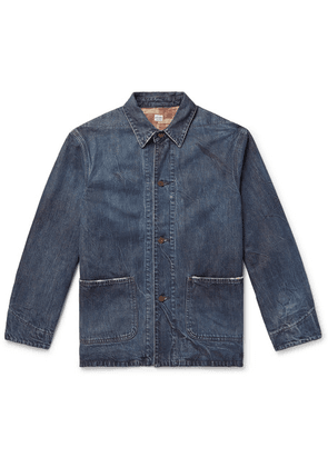 Chimala - Distressed Denim Chore Jacket - Indigo