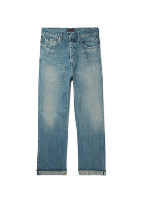 Chimala - Distressed Selvedge Denim Jeans - Blue