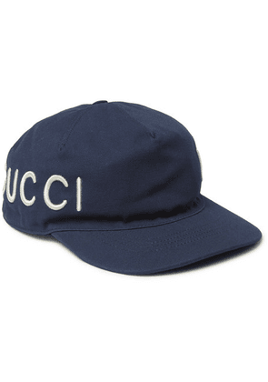 Gucci - Embroidered Cotton-twill Baseball Cap - Navy