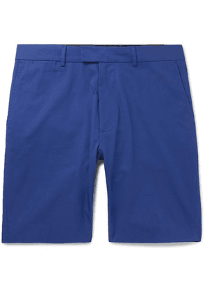 Enlist - Stretch-cotton Chino Shorts - Blue
