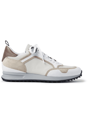 Dunhill - Radial Runner Leather And Suede-trimmed Mesh Sneakers - Off-white