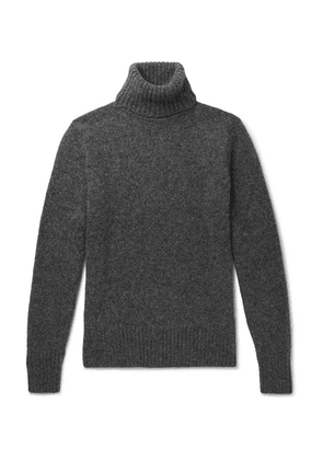 AMI - Baby Alpaca-blend Rollneck Sweater - Gray