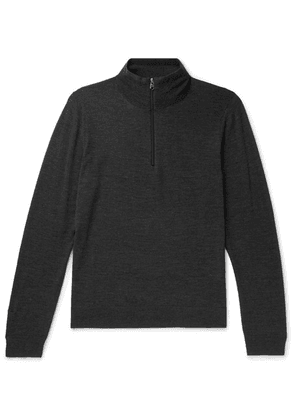 Paul Smith - Merino Wool Half-zip Sweater - Charcoal