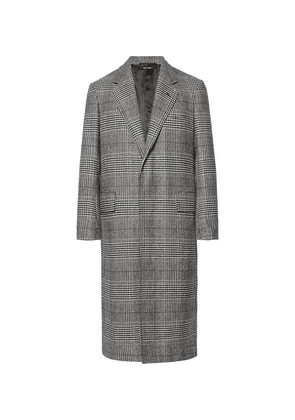 Dunhill - Prince Of Wales Checked Wool And Cashmere-blend Coat - Gray