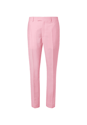 CALVIN KLEIN 205W39NYC - Slim-fit Striped Mohair And Wool-blend Trousers - Pink