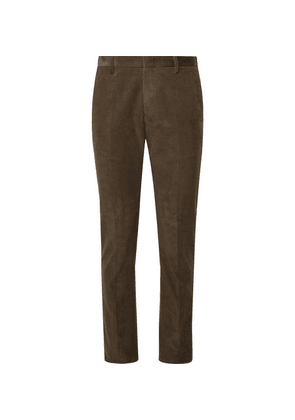 Paul Smith - Olive Slim-fit Cotton-corduroy Suit Trousers - Brown