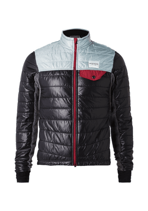 Cafe du Cycliste - Albertine Quilted Shell And Fleece Jacket - Navy