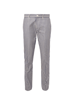 Connolly - Striped Cotton Trousers - Blue