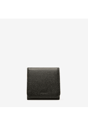 Bally Bryto Black, Men's printed calf leather coin pouch in black