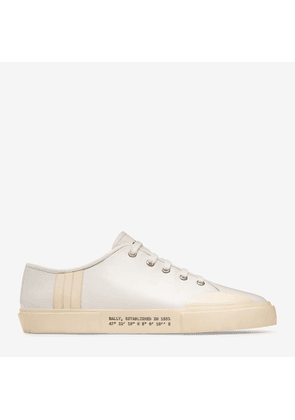 Bally Vrey White, Men's plain calf leather low-top trainer in white