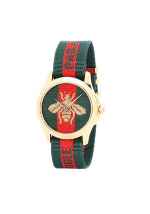 Le Marché des Merveilles 38mm striped fabric watch