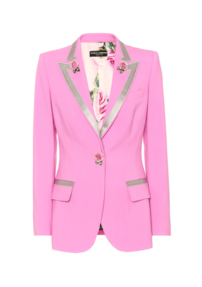 Turlington wool and silk blazer