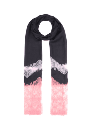 Cashmere-blend and lace scarf