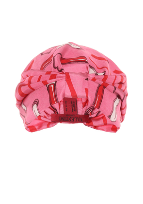 Printed silk-satin turban