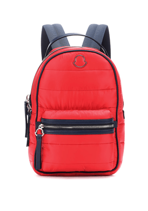 Georgette leather-trimmed backpack