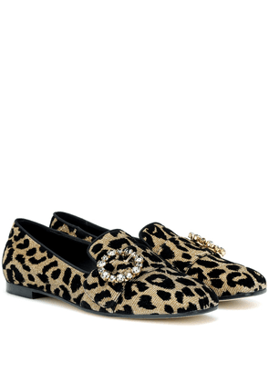 Crystal-embellished loafers